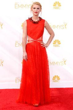 Claire Danes in Givenchy Haute Couture at the Emmys 2014