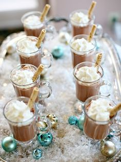 Hot cocoa bar wedding party drinks winter sweets holidays party ideas