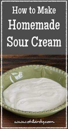 How to Make Homemade Sour Cream - www.ohlardy.com