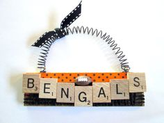 Cincinnati Bengals Football Ornaments by ScrabbleTileOrnament, $8.00