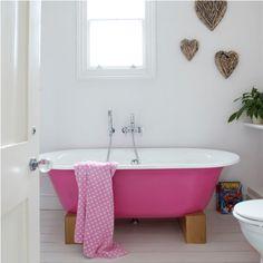 Pink tub! Love it