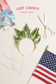 Lady Liberty floral crown floral crowns