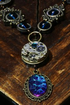 Steampunk Victorian Jewelry Necklace Dark by CatherinetteRings