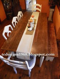 A DIY table made just in time for thanksgiving ~ beautiful!