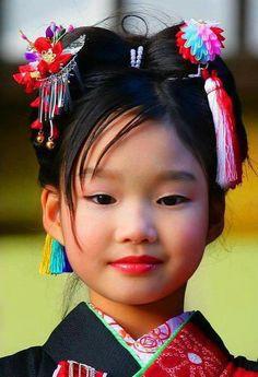 little girls, peopl, face, japan, color, children, beauti, portrait, kid