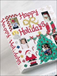 Plastic Canvas - Projects for the Home - Photo Frame & Album Patterns - Happy Holidays