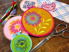 Cassie Stephens: DIY: Stenciled Embroidery