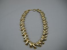 Vintage 80s Goldtone Metal Fabulous  Link Necklace. $15.00, via Etsy.