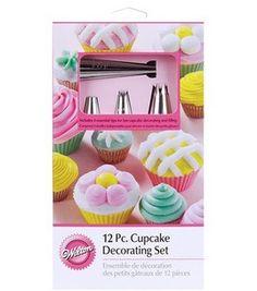 12 pc. cupcake decorating set