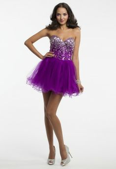 Short Strapless Tulle Dress from Camille La Vie and Group USA