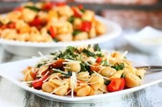 Smoky Tomato, Roasted Pepper and Arugula Pasta