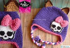 Monster High, Monster High Crochet Hat, Clawdeen Wolf Inspired Hat.