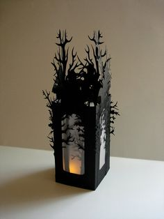 Haunted Forest Luminarys Set of 2 A by MasonRabbitsPaperie