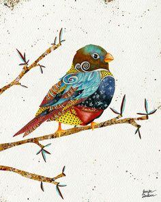 11x14 Art Print Twilight Bird by TheOpulentNest on Etsy, $22.00