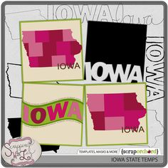 Iowa Template Set by Scrapping with Liz