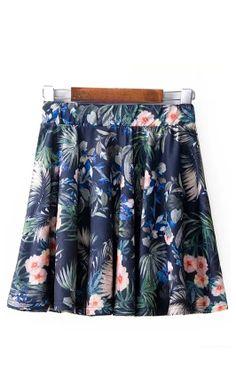 ~ Floral Print Skirt