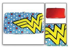 Wonder Woman Logo Red Metallic Hinge Wallet  $18.95