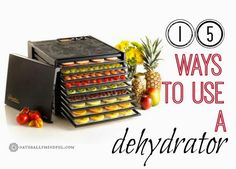 15 Ways to Use a Dehydrator. Great recipes to get the most from my dehydrator!
