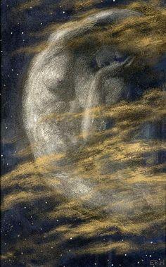 Edward Robert Hughes (1851-1914), The Weary Moon.