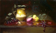 Centennial Farm Reflections by Christine Hooker Oil ~ 12 x 20