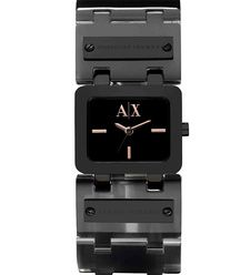"""Black Square Watch $140  Inscribe it with: """"I always have time for you."""""""