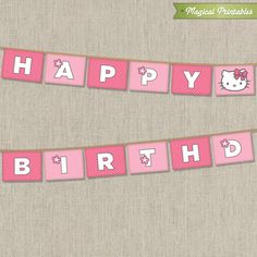 Hello Kitty Printable Birthday Banner