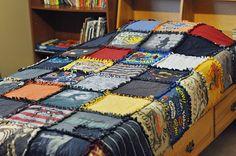 Simply Sara: Handmade for the boy  t shirt quilt