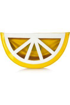 Charlotte Olympia Fruit PVC clutch NET-A-PORTER.COM