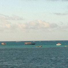 Fishermans at sunset . Zanzibar