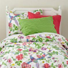 rainforest bedding for C's room?
