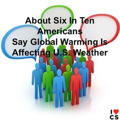 About 2 out of 3 Americans say weather in the U.S. has been worse over the past several years.  Yale Project on Climate Change Communication: