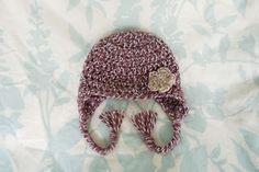 Alli Crafts: Free Pattern: Earflap Hat Premie craft flowers, crocheted baby hats, cutest babies, diy crafts, crochet baby hats, earflap hat, crochet hats, hat patterns, flower patterns