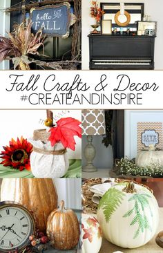 Create & Inspire Party 10/4: Fall Crafts & Decor Ideas