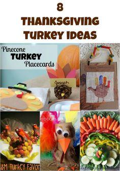 8 Thanksgiving Turkey Crafts & Recipes