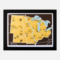 MW American Atlas Print, $24.50,