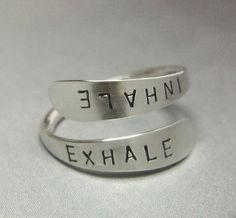 Sterling Love Wrap Ring Custom Name Word by YorkAvenueStudio, $24.80