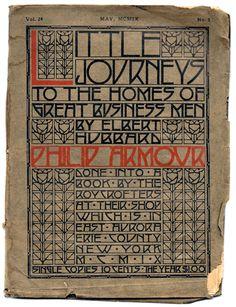 """Roycroft design: """"Little Journeys"""" cover"""