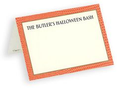 Orange Lizard Border Personalized Placecards
