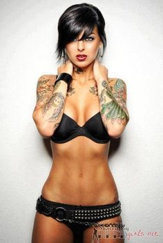 Gorgeous eyes and jet black hair, with matching underwear.