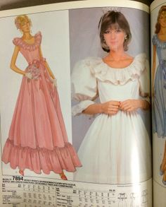 Wedding gown pattern from a 1982 McCall's catalog. #mccalls #vintagesewing #vintagebride