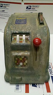 Vintage MARVEL Trade Stimulator Cigarette Reel Machine Penny 1 Cent Slot Gumball
