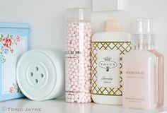 Laundry room shelves by Torie Jayne