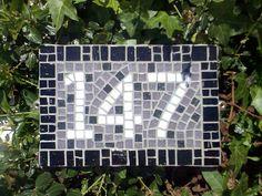 mosaic house number mosaic hous, hous number, mosaic idea, house numbers