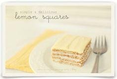 simple as that: simple summer recipe: lemon squares
