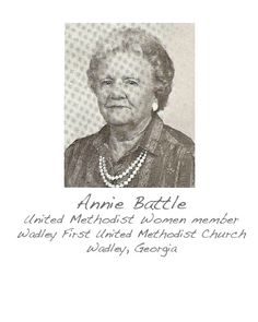 Our church meant so much to Mrs.Annie that a beautiful stained glass window was given in her and her husband's memory. Every time you enter our church the first thing seen is that beautiful stained glass window about the choir. - Kitty Bargeron, President of Wadley United Methodist Women