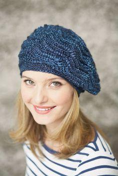 Patons® Metallic™ Wave Stitch Beret (Crochet)