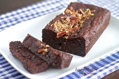 LC Best Chocolate Zucchini Bread (Just use your own sweetener in place of the honey)