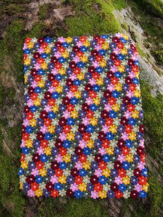 Ravelry: purlerika's Floral Baby Blanket - purchase pattern by Adi Keren here: http://www.ravelry.com/patterns/library/floral-baby-blanket