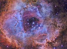 Inside Hubbles Rose by strongmanmike2002. The heart of the Rosette Nebula.