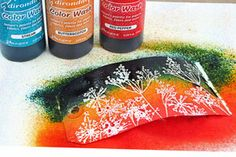 Color Wash Faux Bleach by Sherry Cheever.  Create a faux bleached look by spraying Color Wash sprays over embossed images. - with video